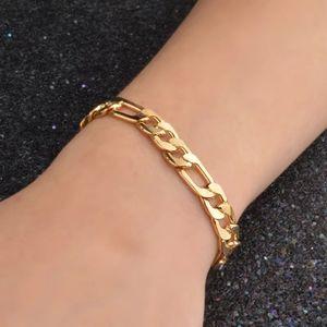 18K Gold filled 8MM Sideways Bracelet